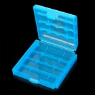 AH780 Protective PP Plastic Storage Case for 4 x AA / AAA Batteries -- Translucent Blue (Professional Tools Category)
