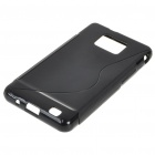 Protective Rubber Gel Silicone Back Case for i9100 Galaxy S2 Black (Mobile Phone Silicone Cases Category)