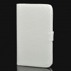 Protective PU Leather Case for Samsung Galaxy Note i9220 / N7000 / i9228 White (Mobile Phone Leather Cases Category)