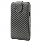 Protective PU Leather Cover Plastic Case for Samsung I9100 / I9188 / I9108 Black (Mobile Phone Leather Cases Category)