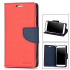 ET235 Protective TPU Plus PU Leather Case for Samsung Galaxy S4 i9500 -- Red (Mobile Phone Leather Cases Category)