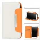 OQ912 Simple Protective PU Leather Flip-Open Case for Samsung Galaxy S4 i9500 -- White (Mobile Phone Leather Cases Category)