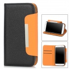 CU183 Protective PU Leather Case with Hand Strap for Samsung Galaxy S4 i9500 -- Black (Mobile Phone Leather Cases Category)