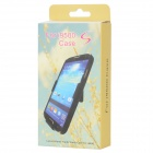 GI898 Protective Plastic Back Case with Belt Clip for Samsung Galaxy S4 i9500 -- Black (Mobile Phone Plastic Cases Category)
