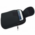 UK408 Universal Nylon Cell Phone Holster -- Black (Size L) (Mobile Phone & PDA Holders Category)