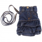 AN908 Fashionable Denim Lady Skirt Design Cell Phone Pouch Bag with Neck Strap -- Blue (Mobile Phone & PDA Holders Category)