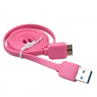 ZI990 Flat Micro USB 9-Pin Male to USB 2.0 Male Data Sync / Charging Cable for Samsung Galaxy Note 3 -Pink (PDA Gadgets Category)
