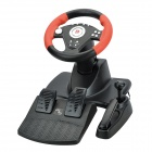 DI-LONG-GD FV960 Racing Wheel Controller with Hand Brake Plus Foot Pedal -- Black Plus Red (Game Boy Accessories Category)