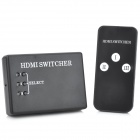 FY604 HDMI Switcher with 3-Input 1-Output / Remote Controller -- Black (Game Boy Accessories Category)