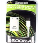 3600mAh Direct Charge USB Battery Pack for Xbox 360 (Xbox Accessories Category)