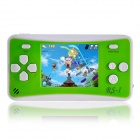 HB903 2.5 Inches Handheld Game Console with Speaker / Built In Games -- Green Plus White (256M / 3 x AAA) (Other Game Consoles Category)