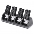 Charger Dock Stand Plus 4 x 2800mAh Battery Set for Nintendo Wii Remote Controller Black (Wii Accessories Category)