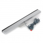XX167 Wired Remote Sensor Bar Infrared Inductor for Nintendo Wii U -- Silver Plus Black (Wii Accessories Category)
