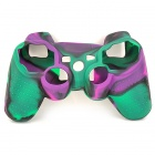 ZC921 Protective Silicone Case for PS3 Controller -- Green Plus Purple Plus Black (PlayStation 3 Accessories Category)