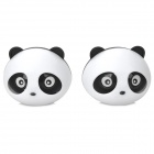 VW724 Panda Lavender Scent Car Air Refresher Set -- White Plus Black (2 Pieces) (Air Fresheners Category)