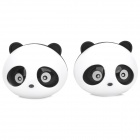 XK123 Panda Shape Car Vent Solid Perfume Air Freshener -- Black Plus White (2 Pieces) (Air Fresheners Category)