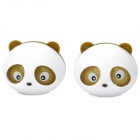 VM989 Panda Peach Scent Car Air Refresher Set -- White Plus Brown (2 Pieces) (Air Fresheners Category)