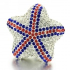 PQ291 Me-rdia-GD Diamond Shining Star Shaped Red and Blue Car Perfume Air Freshener -- Lemon Scent (Air Fresheners Category)
