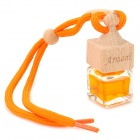HF439 Car Hanging Perfume Essential Oil Bottle -- Orange Plus Wooden (Cologne Scent / 10mL) (Air Fresheners Category)