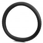 Silicone Car Steering Wheel Cover Black (36 to 40cm) (Car Parts Category)