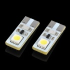 0.3W 6500K 18LM 2x5050 SMD LED Car White Light Lamps Pair (12V) (Car LED Light Bulbs Category)