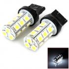UL885 T20 3W 200lm 6000K 18 SMD 5050 LED White Light Car Bulbs -- Black Plus Yellow (Car LED Light Bulbs Category)