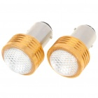 S25 2W 180LM Red LED Car Brake / Turning / Reverse Light Bulbs Pair (DC 12V) (Car LED Light Bulbs Category)