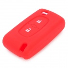 Silicone Smart Key Case for Peugeot Car Red (Car Replacement Keys Category)