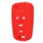 Protective Silicone Case for Buick Lacrosse 4 Button Remote Key Red (Car Replacement Keys Category)