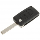 Replacement Folding 3 Button Transponder Smart Key Casing for Peugeot 407 (Car Replacement Keys Category)