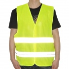 QB239 Construction Reflective Vest Safety Clothing with 9-LED Red Light -- Yellow (Size XXL / 2 x CR2032) (Motorcycle Gadgets Category)