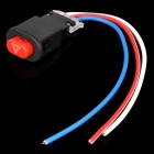 Motorcycle Double Flash Push Button Switch (13cm Cable Length) (Motorcycle Gadgets Category)