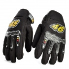 Sports Motorcycle / Motorbike Full Hand Venting Racing Gloves Black (Pair) (Motorcycle Gadgets Category)
