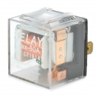 OI520 12V 80A 5-flat-pin Plug Relay for Vehicle -- Transparent Plus Silver Plus Black (Car Specialty Parts Category)