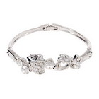 925 Silver Plated Strawberry Crystal Bracelet (Gifts Category)