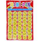 Large Smiley Face Badges / Pins (Mega 40 Pack) (Gifts Category)