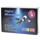 Portable USB 2.0 5X 500X CMOS Digital Microscope with 8 LED Illumination White (Microscopes & Magnifiers Category)