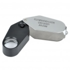 Portable 20X 21 millimeters Jewellers Loupe / Magnifier with 1 White LED Illumination (3 x LR1130) (Microscopes & Magnifiers Category)