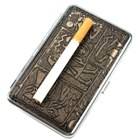 Mysterious Egyptian Glyphs Metal Cigarette Case (Holds 14) (Smoking Pipes and Cases Category)