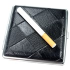 Leather Cigarette Case (Holds 20) (Smoking Pipes and Cases Category)
