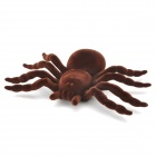 0MG205 Scary Lifelike Flannelette Spider Toys -- Brown (2Pieces) (Practical Joke Supplies Category)
