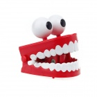 VN154 Big Eyes Interesting Teeth Movable Practical Joke Toy with Sound Effect -- Red Plus White (Practical Joke Supplies Category)