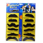 Costume Fake Moustache (Assorted 12 Pack) (Practical Joke Supplies Category)