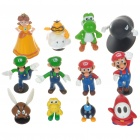 Super Mario Resin Anime Figures (12 Figure Set) (Anime Figurines Category)