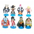 ONE PIECE Vinyl Plastic Figures with Display Bases Set (8 Piece Set) (Anime Figurines Category)