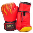 Martial Arts Training Free Combat Boxing Gloves Yellow Plus Red Plus Black (Pair) (Martial Arts Supplies Category)