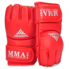 Martial Arts Training Free Combat Half Fingers Gloves Red (Pair) (Martial Arts Supplies Category)
