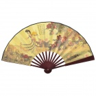 QL171 Tsing-Ping Tune 10.7'' Chinese Folding Art Fan -- Brown Plus Yellow (Martial Arts Supplies Category)