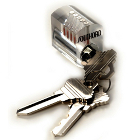 Clear Practice Lock (Standard Pins) (Lock Picks & Tools Category)