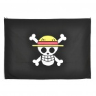 One Piece Luffy GDll Jolly Roger Flag (Black Plus White Plus Yellow) (World Flags Category)